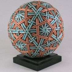 interlocked at intersections Temari balls