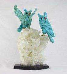 Turquoise Owls (Pair) (TO6)