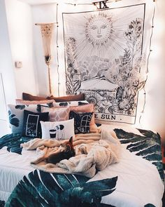34 Awesome Bohemian Master Bedroom Design Ideas – Most Beautiful Furniture Teenage Girl Bedroom Designs, Teenage Girl Bedrooms, Girls Bedroom, Boho Teen Bedroom, Bohemian Dorm Rooms, Dorm Rooms Girls, Dorm Room Ideas For Girls, Bohemian Living, Kids Rooms