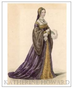 An poster sized print, approx mm) (other products available) - CATHERINE HOWARD wife of Henry VIII Holding feather fan - Image supplied by Mary Evans Prints Online - poster sized print mm) made in the UK