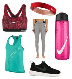 """Nike workout"" by mira-81k ❤ liked on Polyvore featuring NIKE, women's clothing, women, female, woman, misses and juniors"