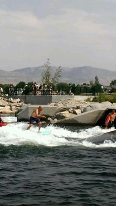 You can surf in the river! this new water park just opened in 2012. I haven't been yet, but will definitely make a trip this summer. more information: http://parks.cityofboise.org/parks-locations/parks/boise-river-park/ #BoiseIdaho #BestKeptSecret
