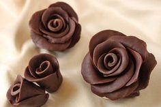 schokoladendekor für torten Schokorosen Anleitung #decoration