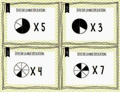 Cartes à tâches en mathématique Multiplication, Math Fractions, Fun Math, Task Cards, Mathematics, Classroom, Teaching, Education, School