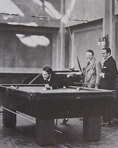 Discovering Chaplin: Playing pool with Doug and Edward Knoblock, c. 1920