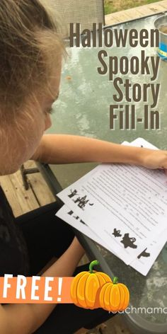 Tweens, teens, and even our younger elementary schoolers will love this fun, FREE Halloween Spooky Story Fill-In! Think: Mad Libs meets Halloween. 👻 ✏️ It's a great way to work on parts of speech with kids--nouns, pronouns, verbs, adjectives, and adverbs--and get them laughing at the same time. Any way we can encourage writing and thinking and laughing? It's a win!