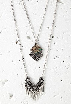 Dimpled Pendant Necklace Set | FOREVER21 | #f21accessorize