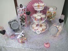 Candy buffet kattaus. www.partybubble.fi