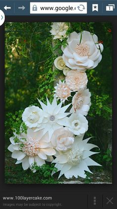 White huge paper flowers for wedding yahoo image search results paper flower mightylinksfo