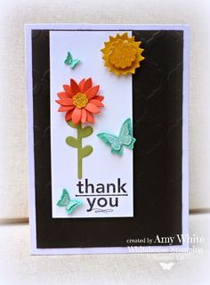 Flower Patch Stamp Set - Stampin' up! Rubber Stamping Techniques, Diy Cards, Handmade Cards, Punch Art Cards, Paper Wall Art, Stampin Up Catalog, Flower Patch, Paper Crafts, Card Crafts