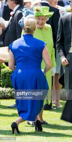 Queen Elizabeth II and Zara Tindall attend Royal Ascot 2017 at Ascot Racecourse on June 20 2017 in Ascot England