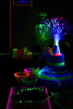 Blacklight Party: Fiber Optics and fun invitation ideas!