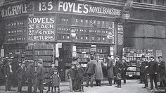 If I could time travel.... I believe this is Foyle's at Charing Cross Road in London.