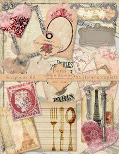 PARIS MON AMOUR  Instant Download Paris by StudioSouthernValley, $4.95