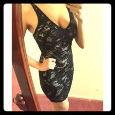 New Years Eve! Sexy black lace vegas dress Sexy and comfortable this black lace dress is perfect for going out or an event. Stretchy material. Worn once Dresses Mini