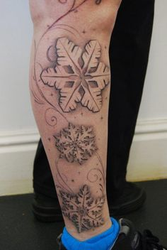 snowflake tattoo- way smaller than this but same idea