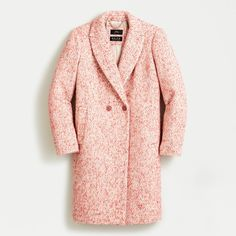 Shop J.Crew for the Tall Daphne topcoat in Italian tweed for Women. Find the best selection of Women Outerwear available in-stores and online. Crew Clothing, Tweed Coat, Perfect Pink, Top Coat, Outerwear Women, Cashmere Sweaters, J Crew, Autumn Fashion, Plus Size