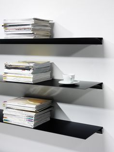 Aluminum Floating Shelf Exilis From Nonuform Red Dot Winner 2010 Interieur Voor Het Huis Rekken