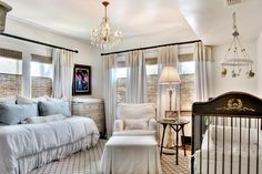 I realize this is a nursery wow! But I would love this look for guest bedroom with touches of green and black!