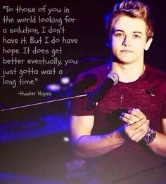 Great Hunter Hayes quote- This is actually talking about getting skunk smell out of a leather jacket but I guess it could be applied to some other situations as well. XD