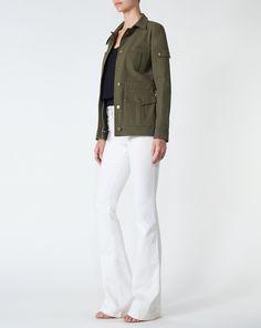7b2f5d48541 Camp Jacket by Veronica Beard Leather Jacket