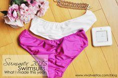 Hot Pink and White Cheeky Bikini Bottom via Vivat Veritas Blog copy