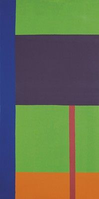 Dan Christensen Hornet, 1970 Enamel On Canvas 78 in x 39 in 011123 LewAllen Galleries
