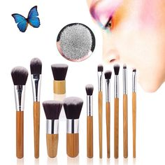 Cheap kit aluminium, Buy Quality kit set directly from China set light Suppliers: Professional MakeUp Tools Pincel Maquiagem Wood Handle Makeup Cosmetic Eyeliner Eyeshadow Foundation Concealer Lip Brush Set Kit Cosmetic Brush Set, Cosmetic Sets, Makeup Brush Set, Contour Makeup, Lip Brush, Contour Face, Makeup Sets, Mac Makeup, Eyeshadow Makeup