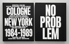Front and back cover of <i>No Problem</i>, a new survey of the hugely influential Cologne and New York art scenes of the 1980s.