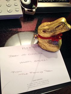A lovely photo from one of our guests staying over Easter weekend: Lovely touch from our hotel @FlemingsMayfair