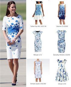 Kate Middleton Style Inspiration. SHOP repliKates of the LK Bennett poppy dress