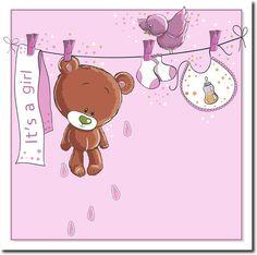 Cuadro Baby bear hanging GIRL