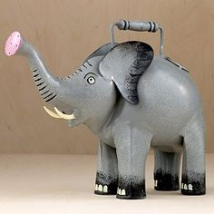 Elephant watering can All About Elephants, Elephants Never Forget, Elephant Love, Elephant Art, Elephant Stuff, Elephant Gifts, Elephant Figurines, Gentle Giant, Illustrations