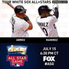 Congrats to Jose Abreu and Alexei Ramirez, who were selected to represent the AL in the 2014#ASG.