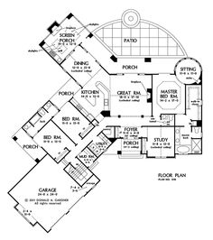2,528 sq. ft. - First Floor Plan of The Keaton - House Plan Number 1318