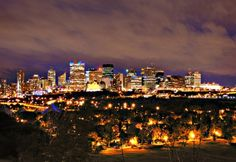 Night time in Edmonton, Alberta!
