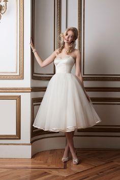 tea length wedding dress, bridal gown, bride
