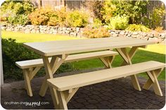how to paint an old picnic table