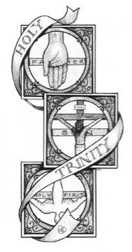 Trinity symbol coloring sheet  Holy Trinity Retreat  Pinterest