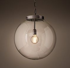 RH's Parisian Architectural Clear Glass Poste Pendant:Inspired by the City of Light, our replicas of vintage Parisian architectural fixtures highlight their functional, serviceable beauty. Our reproduction, nearly identical to the original design, offers a clear class shade that amplifies the light.