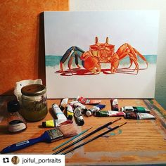 Congratulations to @joiful_portraits for winning our competition for the month of January!!! Please email us your full name and address to: support@craftamo.com so we can send out your prize!  P.S.  Don't forget our competition for the month of February is now underway! Submit your paintings & craft projects by tagging us, @MyCraftamo and using the #MyCraftamo hashtag. Good luck! . . . #craftamo #instart #oilpainting #artistsofinstagram #crab #painting #mycraftamo #crabart #artislove Crab Painting, Crab Art, Crabs, Don't Forget, Competition, February, Congratulations, Craft Projects, Portraits
