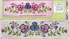 Cross Stitch Flowers, Cross Stitch Patterns, Decorative Boxes, Coin Purse, Crochet, Embroidery, Cross Stitch Rose, Decorative Towels, Flower Chart