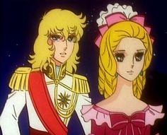 Young Oscar and Antoinette (screenshot) Lady Oscar, Jacques Demy, Fantasy Illustration, Princess Zelda, Disney Princess, Anime, Light And Shadow, Shoujo, Disney Characters