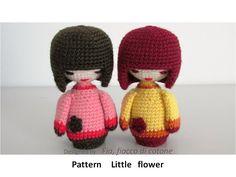 Amigurumi Boy Doll Pattern : Japanese kokeshi boy doll amigurumi pdf crochet pattern boy doll