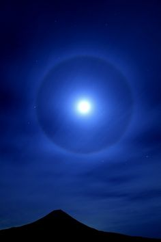 Moon halo from the sun.