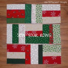 Christmas Sampler Quilt #12 - Wonky Barnfence Block Tutorial on Sew Bitter Sweet Designs at blog.sewbitterswe...