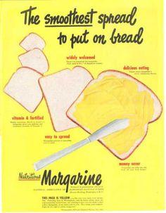 Margarine Spread Bread Yellow Print Art (1949)
