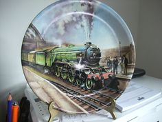 Davenport Collectors Plate The Flying Scotsman By Paul Gribble Limited Edition in Collectables, Decorative Ornaments/Plates, Collector Plates | eBay