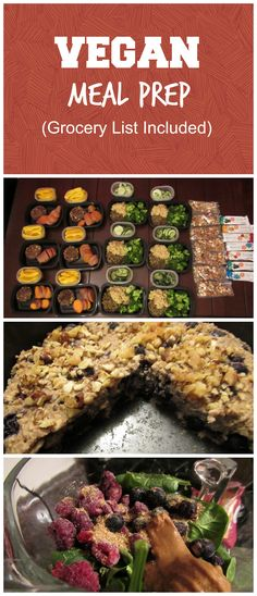 A full week of vegan meal prep! A portion control plan rich in fiber, nutrients, healthy fats, and protein. Vegetarian Meal Prep, Vegan Meal Plans, Healthy Meal Prep, Vegetarian Recipes, Healthy Fats, Healthy Eating, Healthy Protein, Vegan Athlete Meal Plan, Vegan Recipes Easy