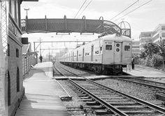 antiga estacao barra funda - Unidade saindo da estação Barra Funda, década de 1960